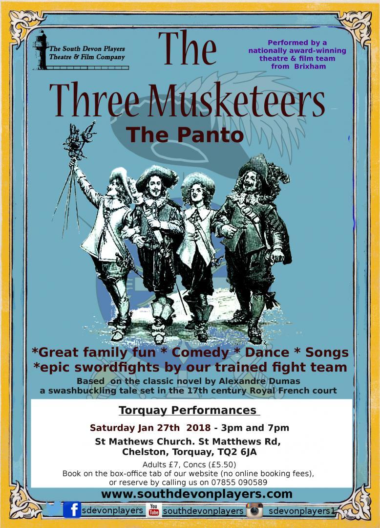The Three Musketeers the panto: Torquay performance